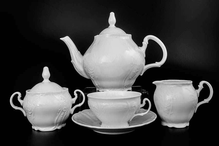 Бернадотт Недекорированный Чайный сервиз на 6 персон 17 предметов