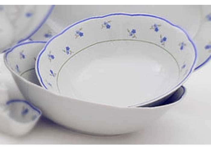 Мэри-Энн, Синие цветы, салатник круглый 23 см, Леандер