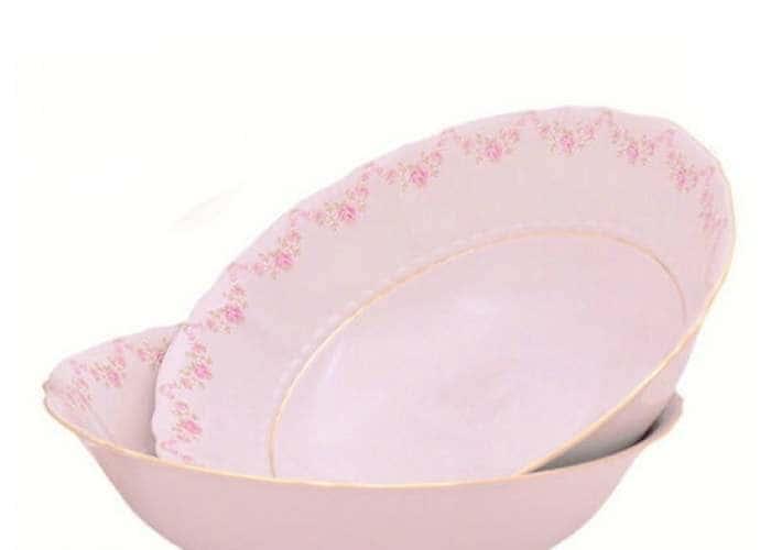 Соната, Мелкие цветы, Розовый фарфор, салатник 13,5 см