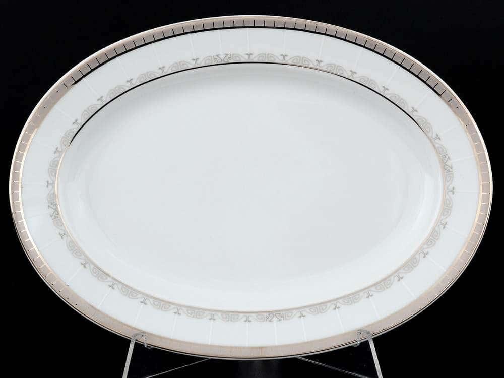 Опал Платиновая лента Блюдо овальное 24 см  Thun
