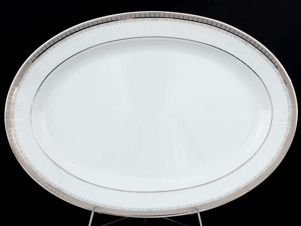 Опал Платиновая лента Блюдо овальное 32 см  Thun