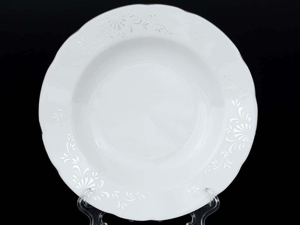 Платиновый узор Набор тарелок глубоких Thun 22 см