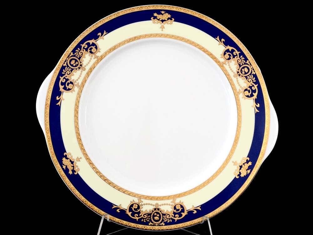 Яна Кобальтовая лента Тарелка для торта Thun 27 см