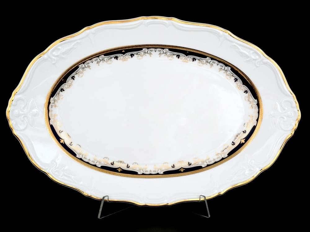 Мария Луиза Синяя лилия Блюдо овальное 32 см Thun