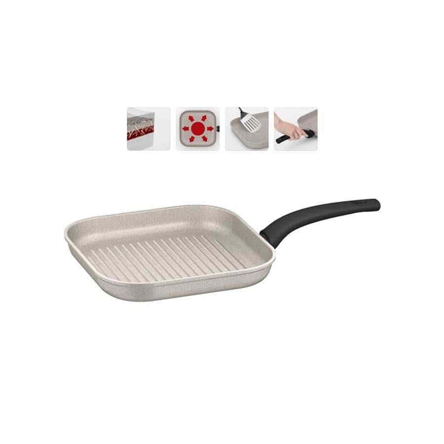 Marmia Сковорода гриль с антипригарным покрытием 26 × 26 см Nadoba