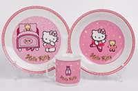 Набор детский 3 предмета Hello Kitty розовый 14361
