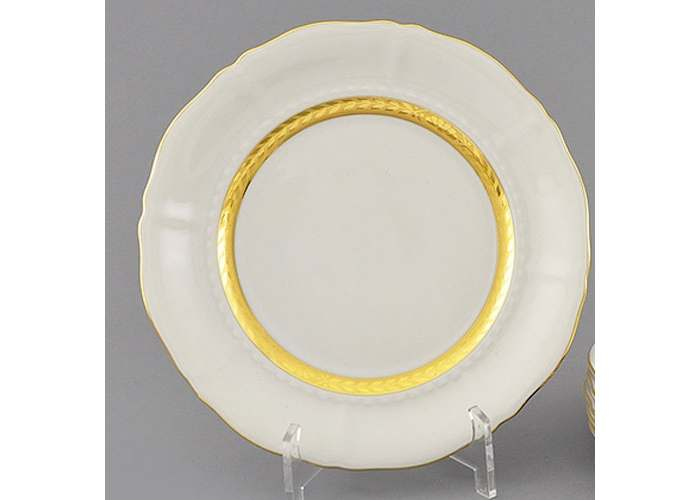 Соната, Золотая лента, Тарелка десертная 19 см, Леандер