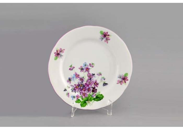 Мэри-Энн, Лиловые цветы, Набор тарелок десертных 19 см