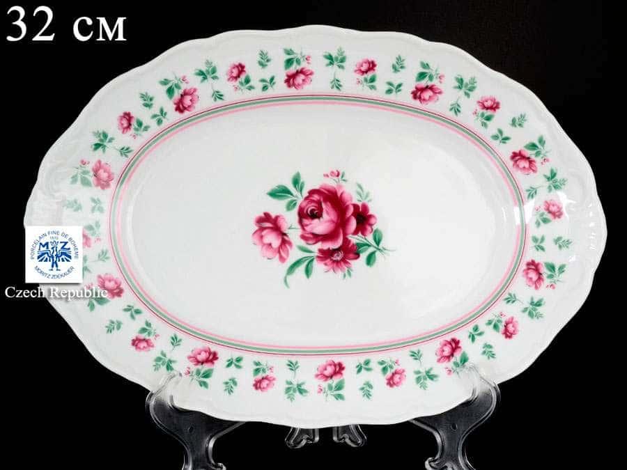 Офелия Плетистая роза Лагуна Блюдо овальное MZ 32 см