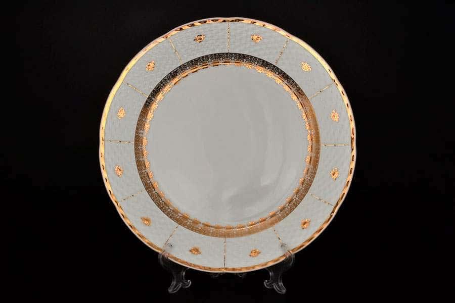 Менуэт Золотой орнамент Блюдо круглое Thun 30 см