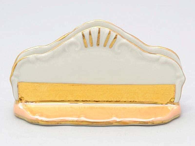 Магнолия Золотая полоса Изумруд Салфетник из фарфора MZ