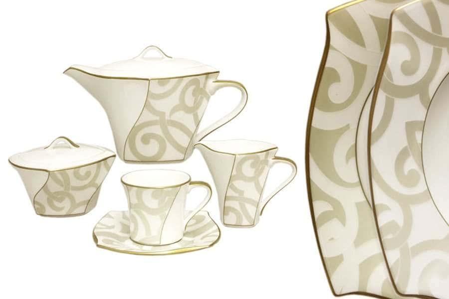 Чайный сервиз из 17 предметов на 6 персон Грегори Narumi  Индонезия