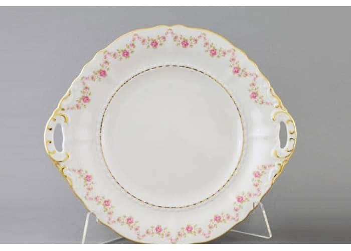 Соната, Мелкие цветы, Тарелка для торта, 27 см, Леандер