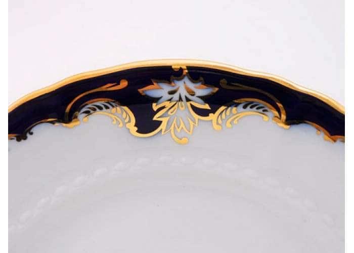 Соната, Кобальтовый орнамент, Тарелка для торта, 27 см
