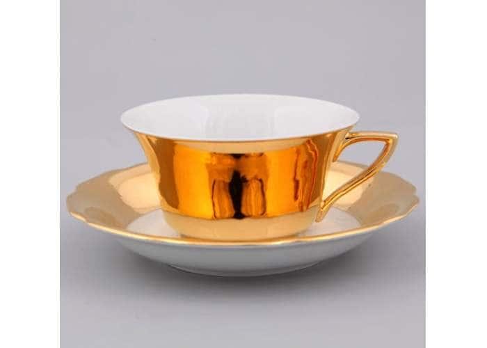 Виндзор, Глянцевое золото, Чашка низкая с блюдцем 0,15 л