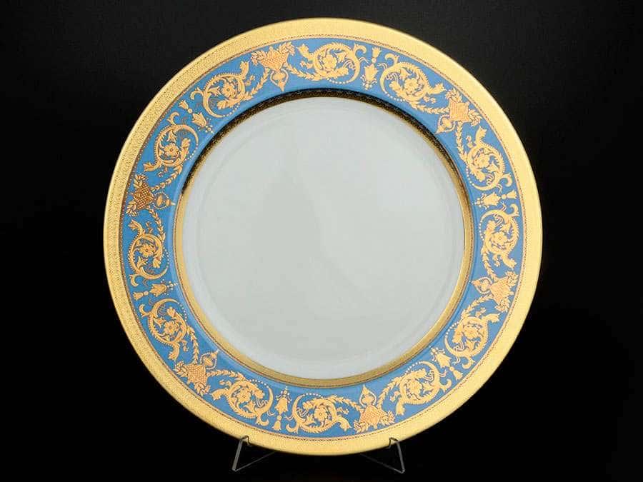 Imperial Blue Gold Блюдо круглое FalkenPorzellan 32 см