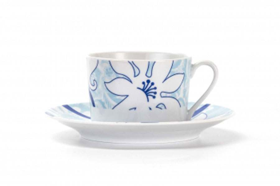 Набор чайных пар 220 мг 12 предмета Bleu Sky 2230 Тунис