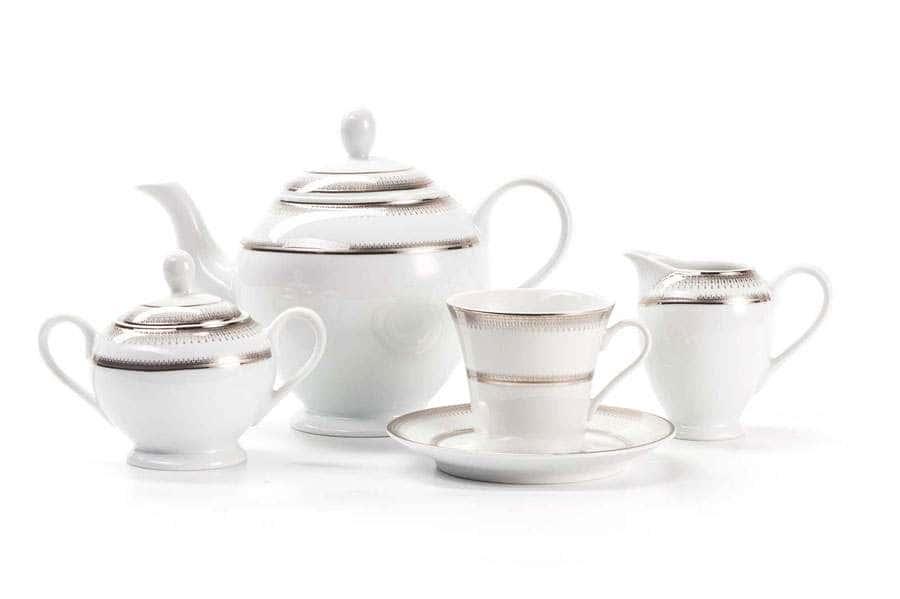 Сервиз чайный 15 предмета PRINCIER PLATINE 1801 Тунис