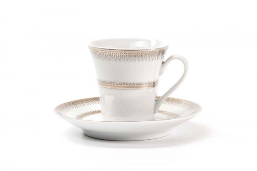 Набор кофейных пар 12 предмета PRINCIER PLATINE 1801 Тунис