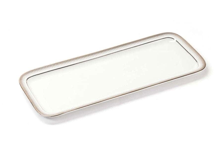 Блюдо для кекса прямоугольное 37,7 х 15,5 см PRINCIER PLATINE 1801 Тунис