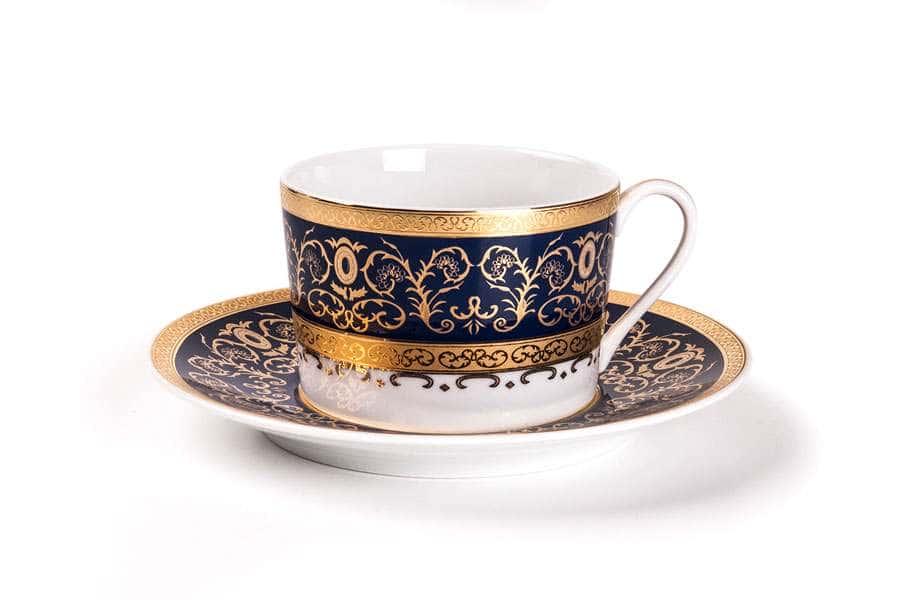 MIMOSA 1646 Набор чайных пар 220 мг 12 предмета Prague Bleu Тунис