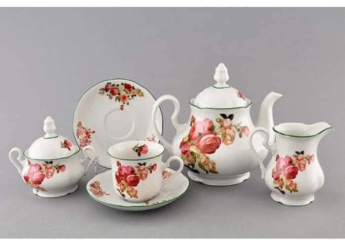 Мэри-Энн, Красные розы, Сервиз чайный 15 пред.