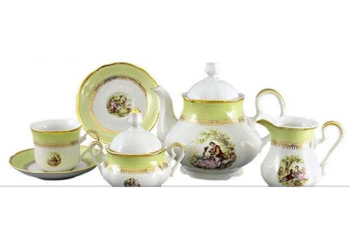 Мэри-Энн, Свидание, Салатовый, Сервиз чайный 15 пред.