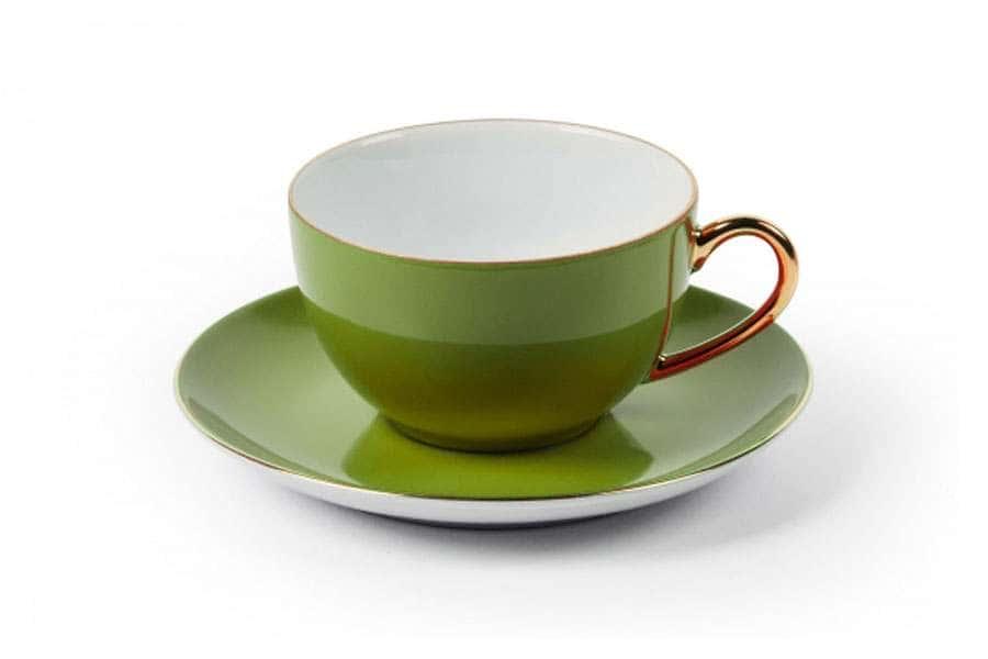 MONALISA 3128 Набор чайных пар 220 мл 6 шт 12 предмета фисташковыйТунис