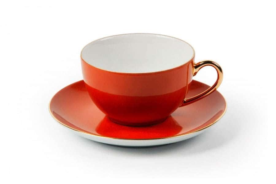 MONALISA 3127 Набор чайных пар 220 мл 6 шт 12 предмета RAINBOW OR Тунис