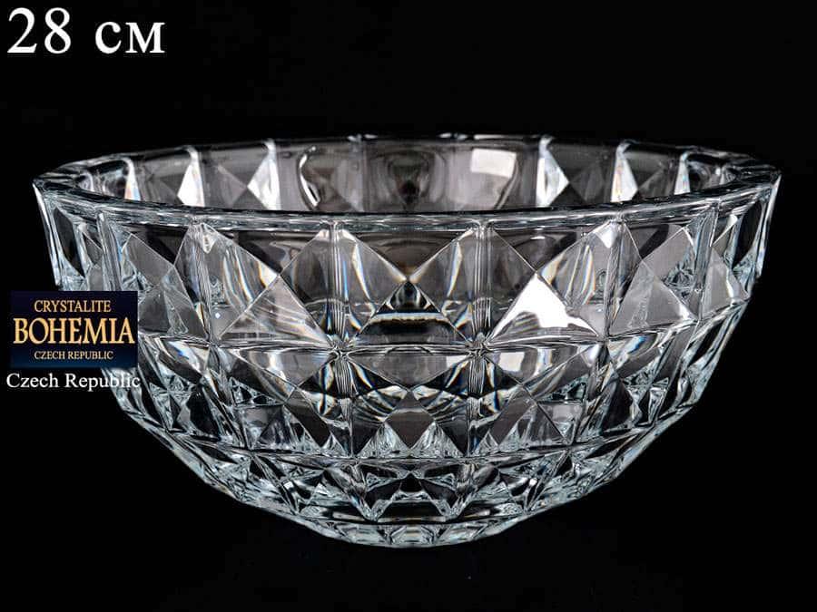 DIAMOND Ваза для фруктов Crystalite Bohemia 28 см 25806