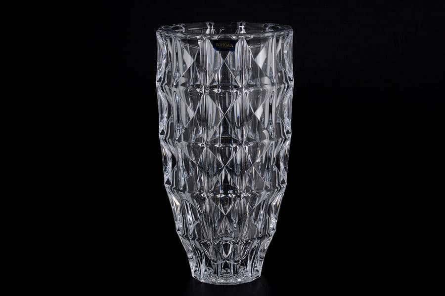 DIAMOND Цветочница стеклянная Crystalite Bohemia 25 см 35039