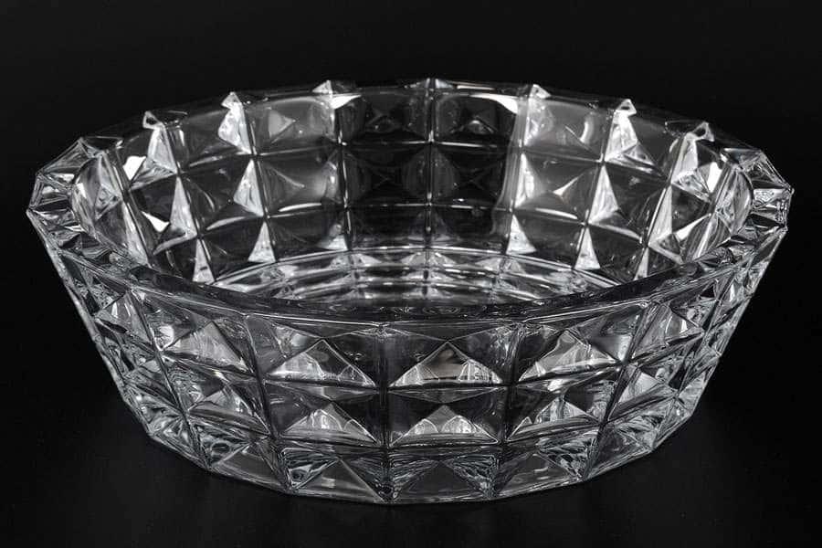 DIAMOND Фруктовница стеклянная Crystalite Bohemia 32 см 34813