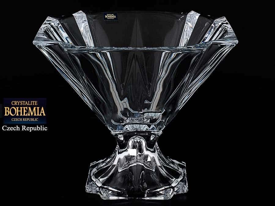 METROPOLITAN Конфетница на ножке Crystalite 30,5 см