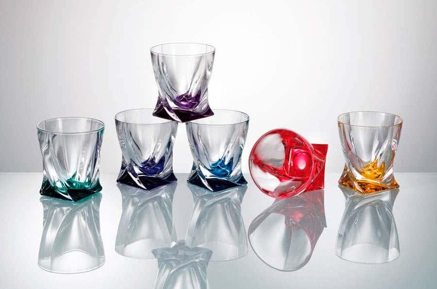 QUADRO Набор стаканов для виски Crystalite Bohemia 340 мл