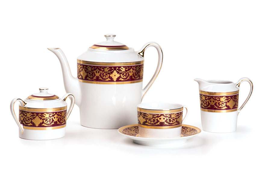 MIMOSA 0631 Чайный сервиз 15 предмета RAMSES BORDEAUX Тунис