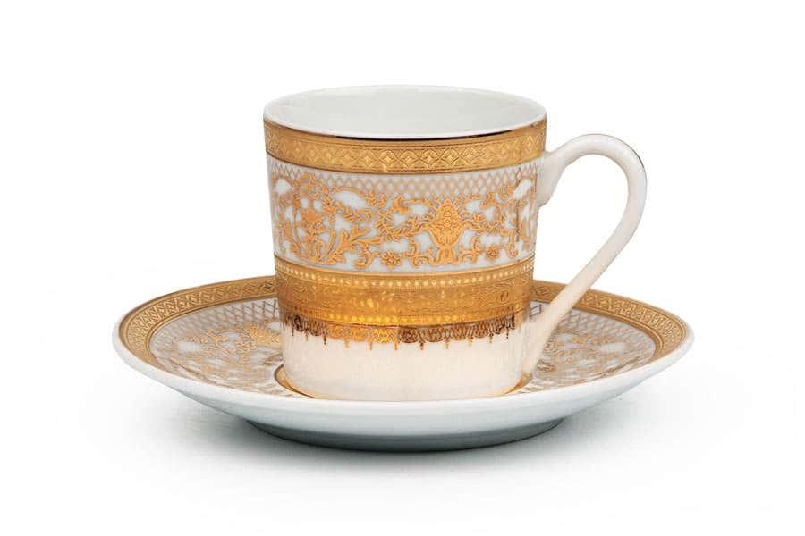 MIMOSA 1645 Набор Кофейных Пар 12 предмет Didon Or Тунис