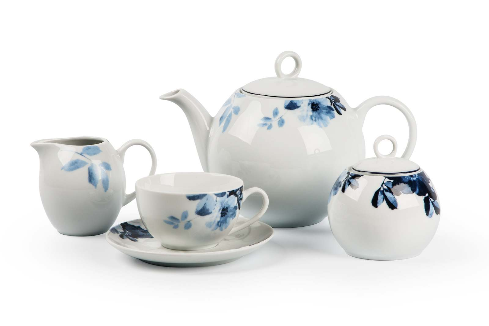 MONALISA 1780 Чайный Сервиз 15 предмета Jardin Bleu Тунис