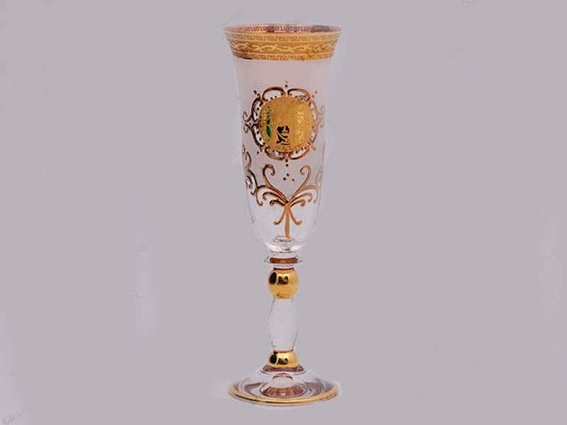 Версачe Глава Грация Б-Г фон Фужер для шампанского Bohemia