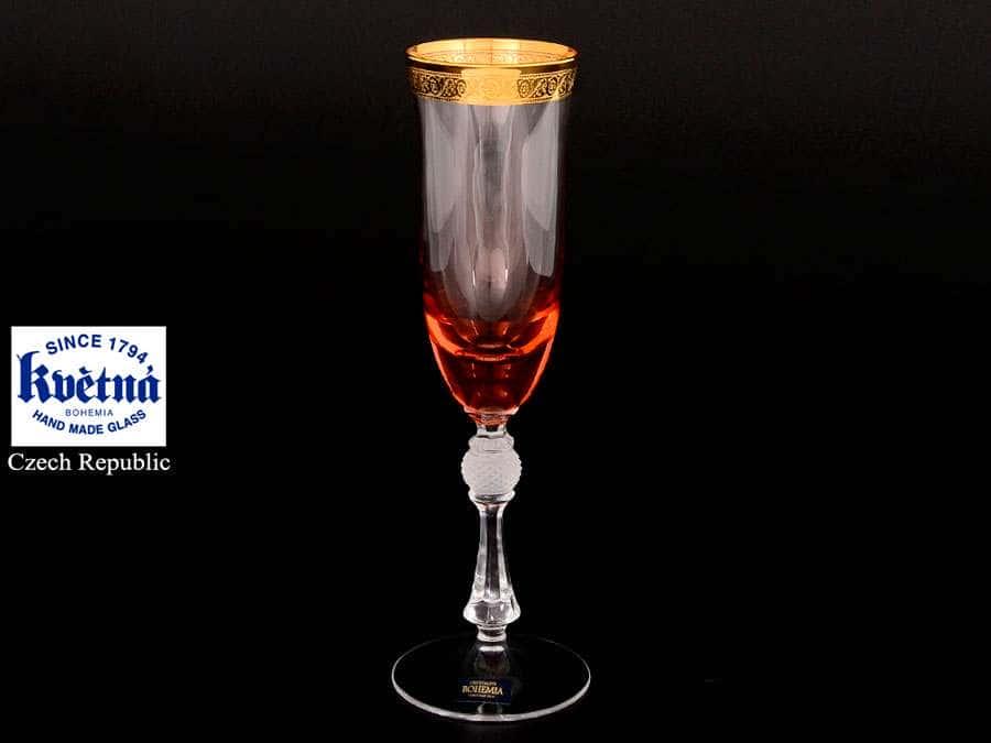 Джесси Кристалайт Фужер для шампанского Kvetna 200 мл Чехия