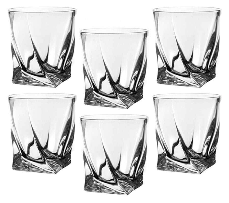 QUADRO 340 мл Набор стаканов для виски Crystalite Bohemia