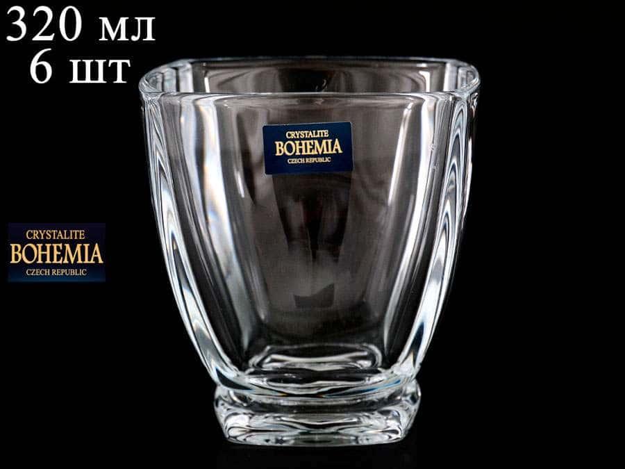 AREZZO Набор стаканов для виски Crystalite Bohemia 320 мл 34350