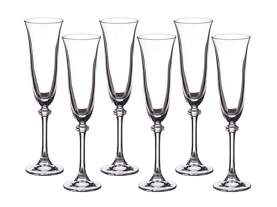 ALEXANDRA Набор фужеров для шампанского Crystalite 190 мл