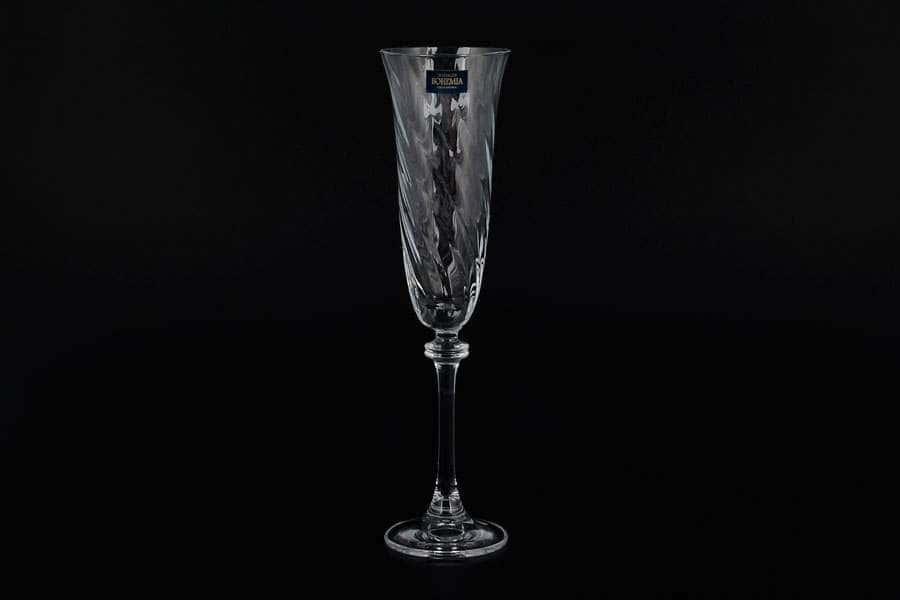 ALEXANDRA Набор витых фужеров для шампанского Crystalite 190 мл