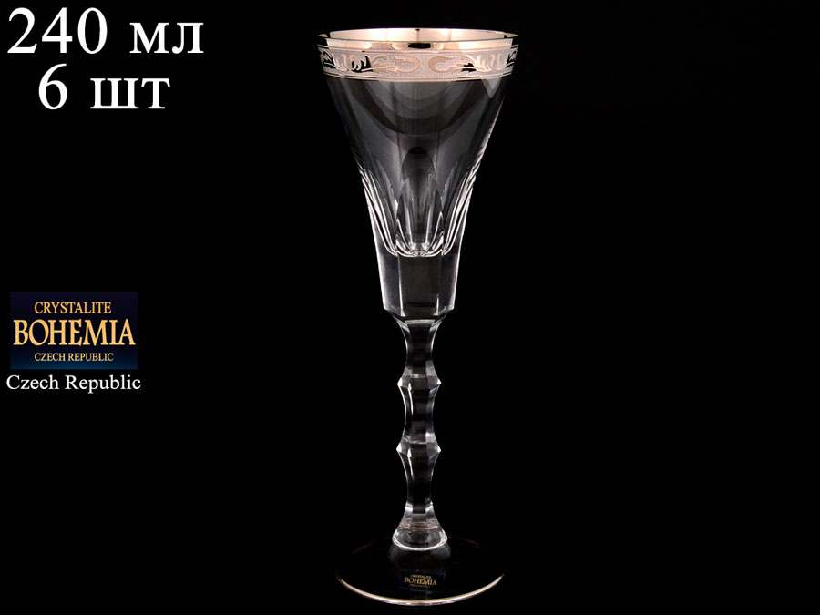 ROMANA Набор бокалов для вина Crystalite Bohemia 240 мл