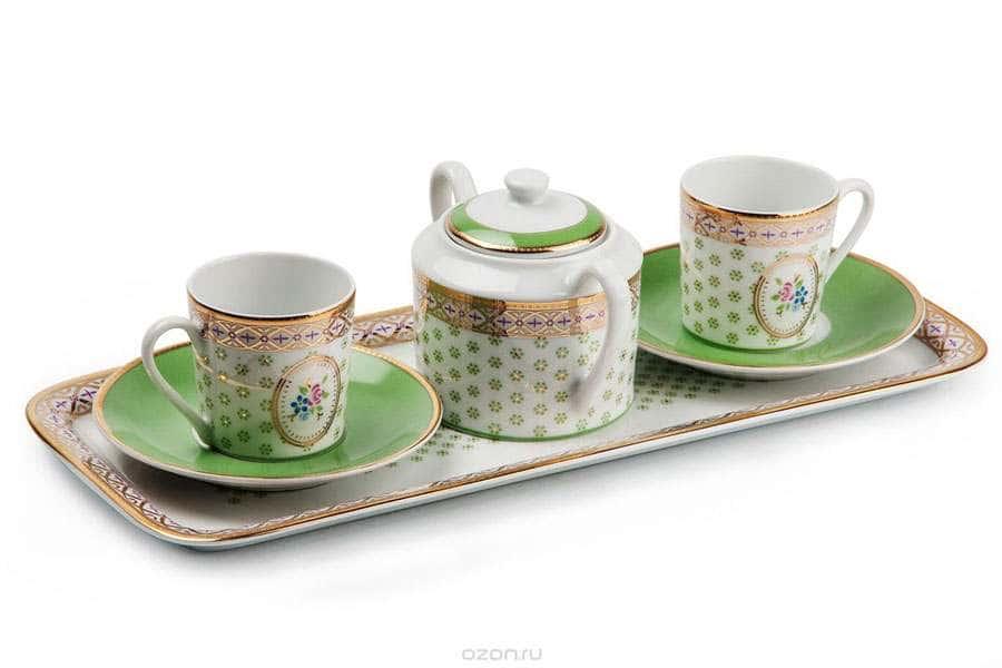 MIMOSA Pistache 536 Кофейный набор на две персоны Тунис