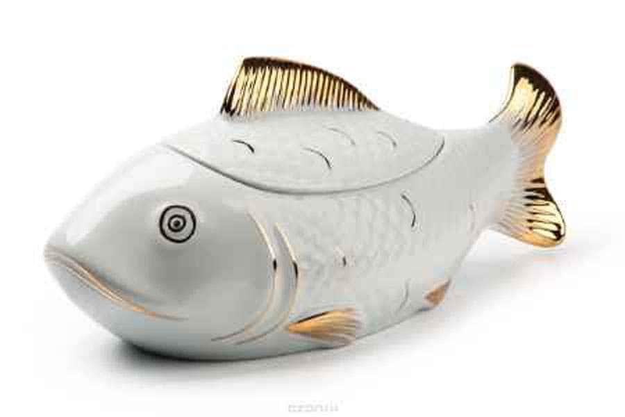 BUFFET Супница Рыба  2,8 л  золото Тунис