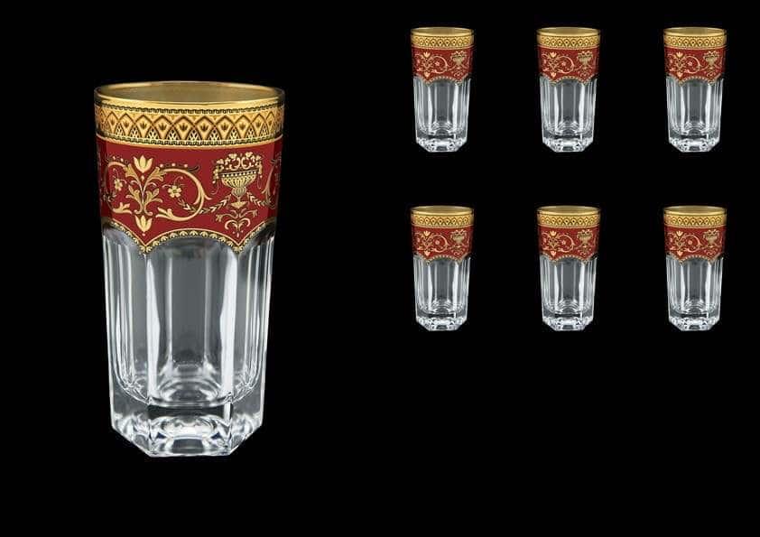 Провенза Империя Набор стаканов Астра Голд 6 шт. 370 мл