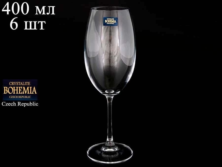 BARBARA  Набор бокалов для вина Crystalite 400 мл 33183
