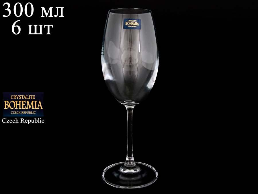 BARBARA Набор бокалов для вина Crystalite 300 мл 33182