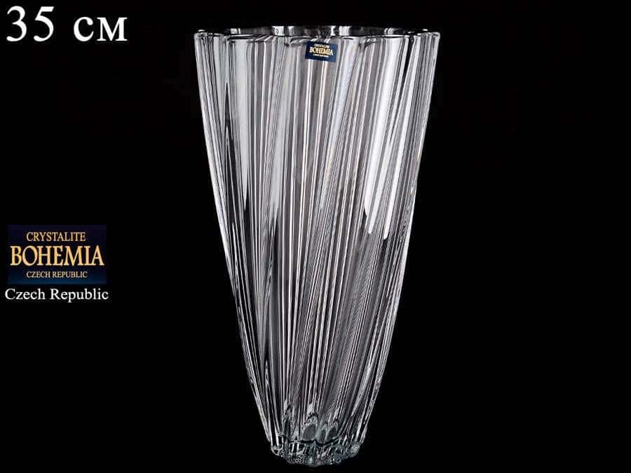SCALLOP Ваза Кристалайт Богемия 35 см для цветов